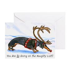 Naughty Dachshund Christmas Cards (20)