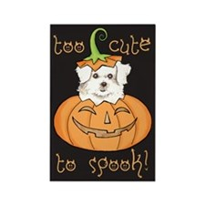Halloween Maltese Rectangle Magnet