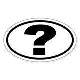 Question Mark ? Oval Oval Decal