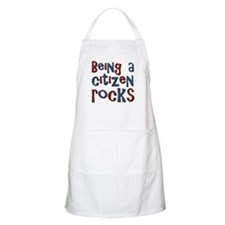 Being a USA Citizen Rocks BBQ Apron