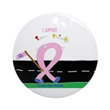 Breast Cancer 3-Day/Team Thri Ornament (Round)