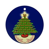 Springer Gifts Dog Bone Tree Round Ornament