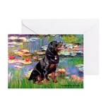 Lilies2/Rottweiler Greeting Cards (Pk of 20)