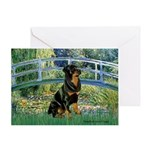 Bridge / Rottie Greeting Card