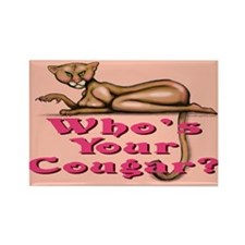 Cute Cougar Rectangle Magnet