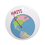 Haiti Map Ornament (Round)