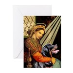 Madonna/Rottweiler Greeting Cards (Pk of 20)