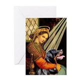 Madonna/Rottweiler Greeting Card