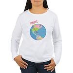 Haiti Map Women's Long Sleeve T-Shirt