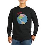 Haiti Map Long Sleeve Dark T-Shirt