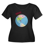 Haiti Map Women's Plus Size Scoop Neck Dark T-Shir