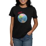 Haiti Map Women's Dark T-Shirt