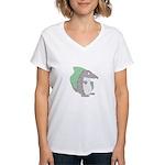 Goofy Armadillo Women's V-Neck T-Shirt
