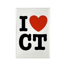 I Love CT Rectangle Magnet
