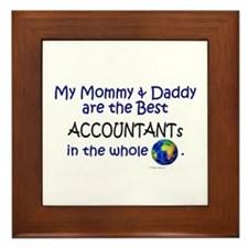 Best Accountants In The World Framed Tile