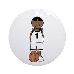 Basketball (African American) Ornament (Round)