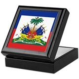 Haiti Flag Keepsake Box