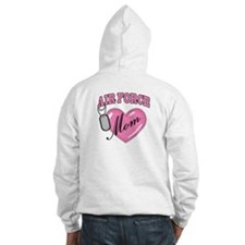 Air Force Mom Pink Heart N Dog Tags - Hoodie