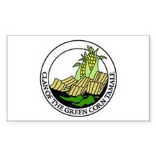Clan of the Green Corn Tamale Sticker (Rectangular