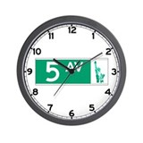 5th Avenue (new), NY - USA Wall Clock
