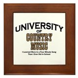 U of Country Music Framed Tile