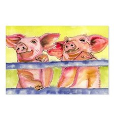 2 Little Piggies Postcards (Package of 8)
