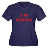 I LOVE MARIAH Women's Plus Size V-Neck Dark T-Shir