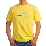GENIUS LOADING... Yellow T-Shirt