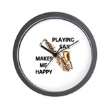 HAPPY SAX Wall Clock