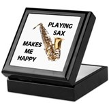 HAPPY SAX Keepsake Box
