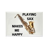 HAPPY SAX Rectangle Magnet