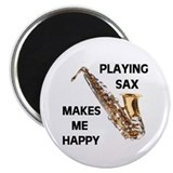 "HAPPY SAX 2.25"" Magnet (10 pack)"