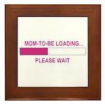 MOM-TO-BE LOADING Framed Tile