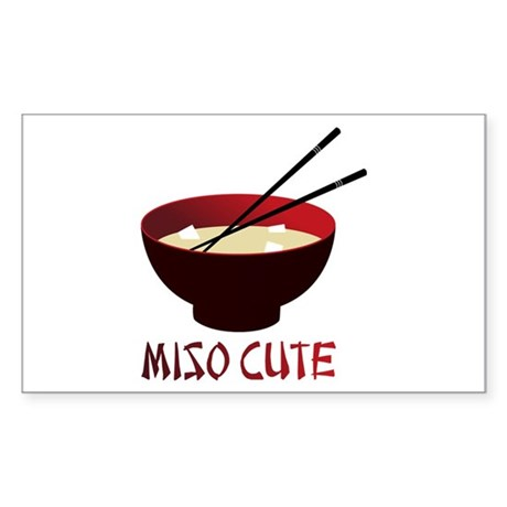 Miso Cute Rectangle Sticker