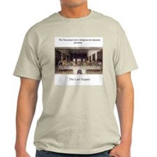 """The Last Supper""(with George W) Gray T-Shirt"