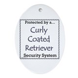 Curly-Coat Security Oval Ornament