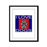 I Love Dogs Framed Panel Print