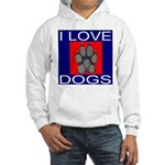 I Love Dogs Hooded Sweatshirt