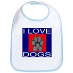 I Love Dogs Bib