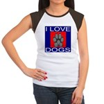 I Love Dogs Women's Cap Sleeve T-Shirt