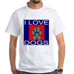 I Love Dogs White T-Shirt