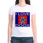I Love Dogs Jr. Ringer T-Shirt