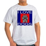 I Love Dogs Light T-Shirt