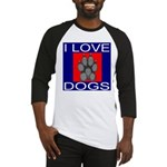I Love Dogs Baseball Jersey