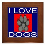 I Love Dogs Framed Tile