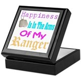 happiness is in the army of m Keepsake Box
