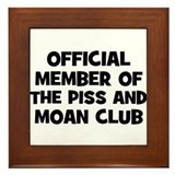 Official Member of the Piss a Framed Tile