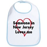 Loves me: New Jersey Bib