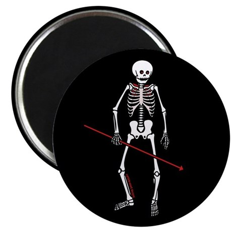 "Hunting Skeleton 2.25"" Magnet (100 pack)"