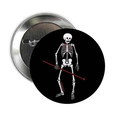"Hunting Skeleton 2.25"" Button (100 pack)"